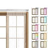 WOMETO Fadenvorhang Türvorhang 90x245 Stangen...Vergleich