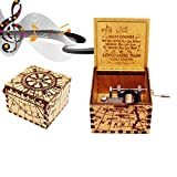 Youtoo Retro Holz Spieluhr Hand klassischen Handkurbel Musik Box für Geschenke (you are my sunshine)