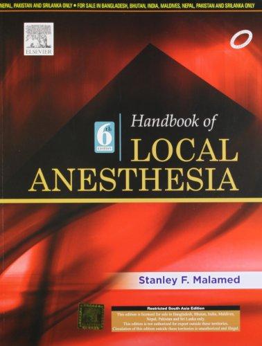 Handbook of Local Anesthesia