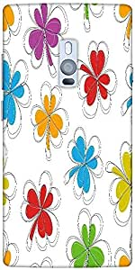 Snoogg abstract summer background Hard Back Case Cover Shield For Oneplus Two