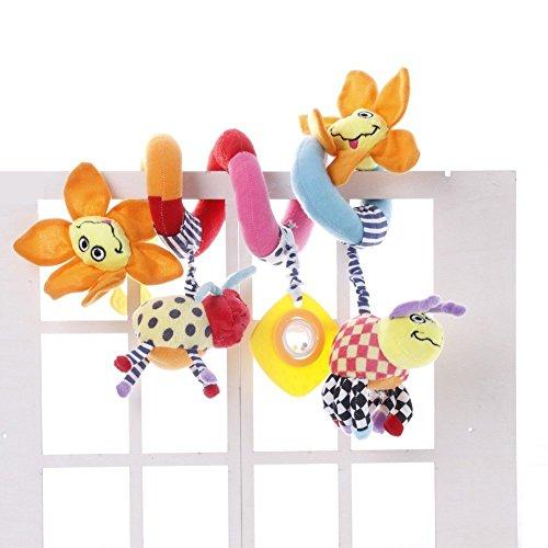 Designs Krippe (OAMORE Kinderwagen Spielzeug Krippe Design Spirale Aktivität Hängen Spielzeug Plüschtiere Kinderwagen Mobile Autositz Kinderwagen Spielzeug (Sunflower))
