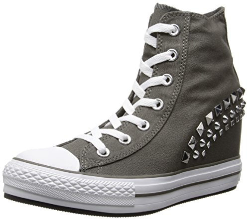 CONVERSE SCARPA SNEAKER CON ZEPPA INTERNA DONNA CANVAS CARBONE ART. 542425C 40 EU - 9 USA - 7 UK CARBONE