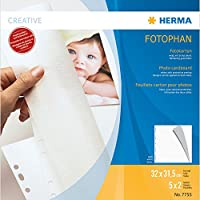 HERMA Photo cardboard, 320x315 mm, white, 5 sheets - Sheet Protectors (320x315 mm, white, 5 sheets, 320 x 315 mm, White, Cardboard, 5 pc(s)) - Trova i prezzi più bassi su tvhomecinemaprezzi.eu