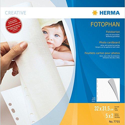 Herma 7755 Fotokarton FOTOPHAN, 320 x 315 mm, weiß