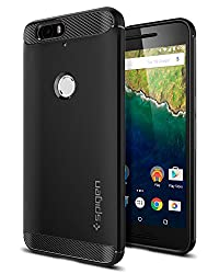 Complete your Nexus 6P look with Spigen's Rugged ArmorTM case. The newly designed case is a single-layered TPU shell that's flexible with carbon fiber textures and glossy accents. Precise cutouts maintain phone functions, such as the fingerprint scan...
