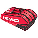 HEAD Unisex- Erwachsene Core 9R Supercombi Tennistasche, red/Black, Andere