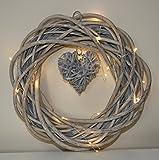 look vintage couronne de saule avec pendentif en forme de cœur. s'allume. 20batterie led gratuit