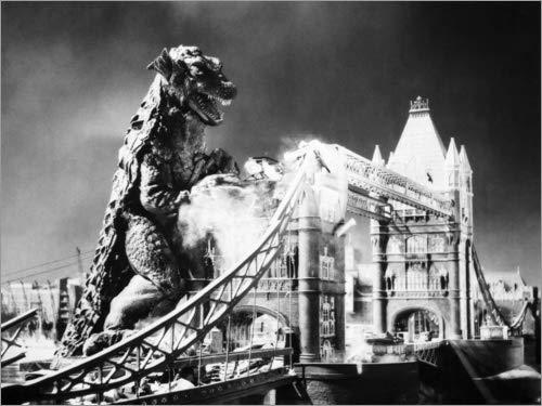 Posterlounge Alubild 120 x 90 cm: Godzilla von Granger Collection