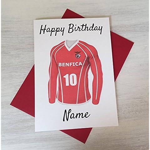 Benfica Calcio compleanno personalizzabile con qualsiasi nome e numerati Shirt - Custodia Regalo Personalizzato Scheda