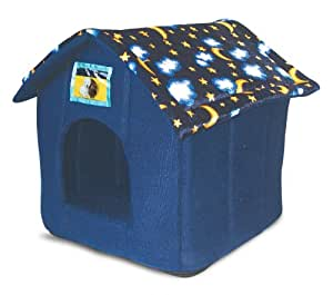 Just 4 Pets House Bed Moon & Stars, Blue