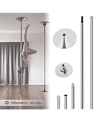 Amzdeal Caño para baile Pole Dance, Baile en barra 2235-2745mm de longitud Perfecto para deporte y fitness o regalo