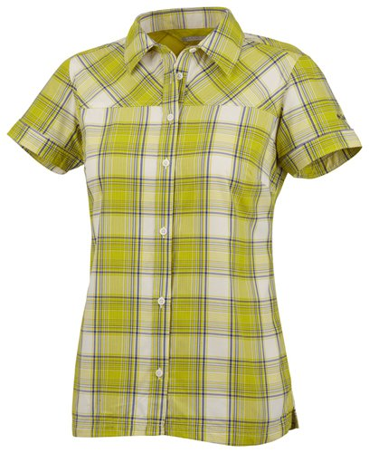 Columbia-damen-kicks (Columbia Women's Kick Fix Plaid Short Sleeve Shirt Weiß Weiß X-Small)