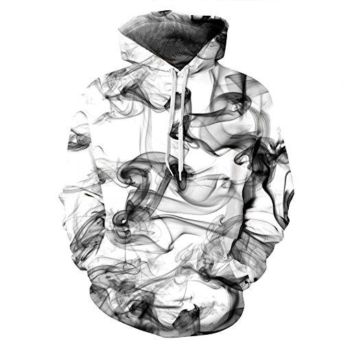 AMOMA Jungen digitaldruck Kapuzenpullover Tops Fashion Hoodie Pullover Hooded Sweatshirt (Small/Medium, Chinese Ink)