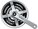 Shimano FC-TY501 Vierkant 6/7/8-fach Kurbelgarnitur, Silber, 175 mm