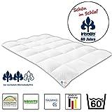 Badenia 03621250140 Irisette Daunensteppbett, Baumwolle, weiß, 135 x 200 x 5 cm