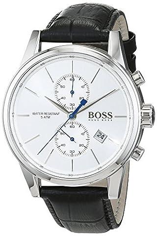 Hugo Boss Herren-Armbanduhr Jet Chronograph Quarz Leder 1513282
