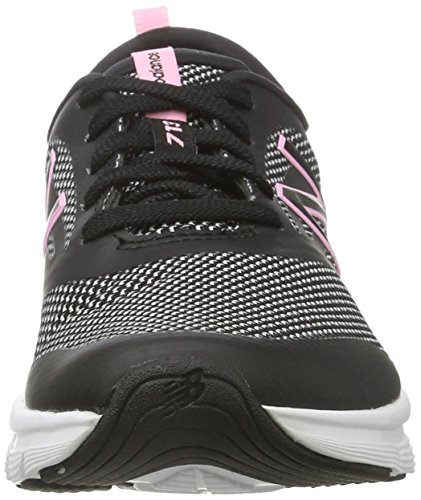 New Balance Wx713, Scarpe Sportive Indoor Donna Nero (Black/pink)