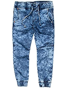 Carrera Jeans - Jogger vaqueros 740 para niño, estilo tapered, tejido extensible, ajuste regular, cintura normal