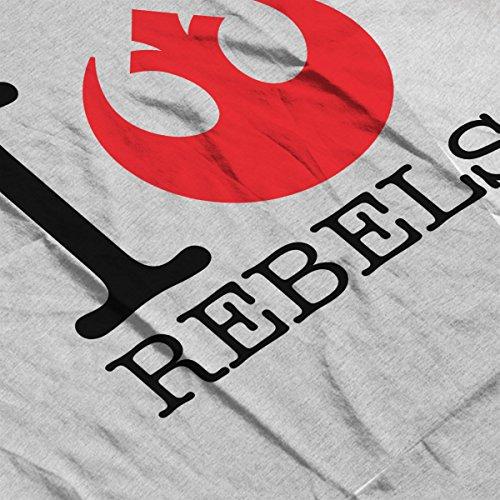Star Wars Rogue One I Heart Rebels Men's T-Shirt Heather Grey