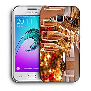Snoogg Wine Glasses Designer Protective Back Case Cover For SAMSUNG GALAXY J2 2016