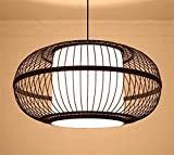 Rattan Laterne Housewarming Geschenk handgefertigte Bambus rustikal klassische kreative Pendelleuchte Kronleuchter (paar billiger) (Farbe : -)