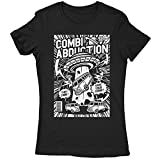 A002-220L Combi Abduction Damen T-Shirt Alien UFO Save Your Combi They Come Comics Space Geek Classic(SmallBlack)