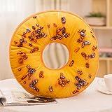Aiserkly 40x40 cm Weiches Plüschkissen Gefüllte Sitzkissen Sweet Donut Foods Kissenbezug Fall Spielzeug