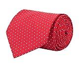 Barata Formal Ties For Men, Polka Dots Red Tie