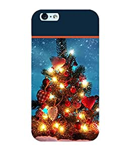Printtech Christmas Tree Hearts Case Back Cover for Apple Iphone 6 / Iphone 6S