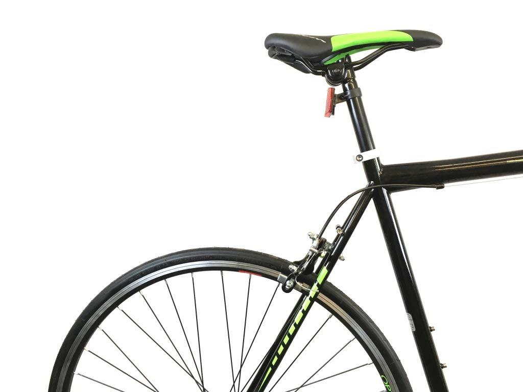 51q7zOCOfLL - Falcon Optimum Mens Road Racing Bike - Black/Green