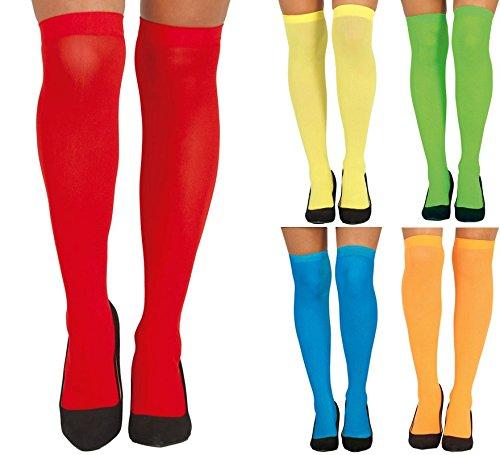 Overknee bunt für Damen Karneval Fasching Party Motto ()