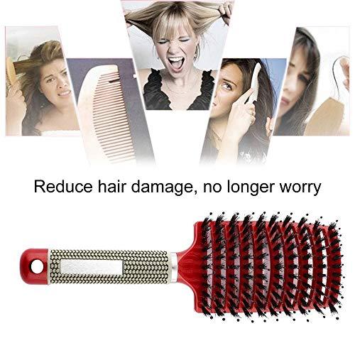 OOFAYWFD Haar-Kopfhaut-Massage-Kamm-Borsten-U. Nylonhaarbürste-Nasses Gelocktes Haar-Formungs-Werkzeug