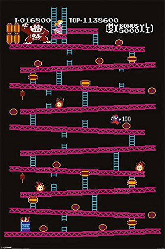 Empire Interactive - Póster de Donkey Kong de Nintendo (incluye accesorios de fijación)