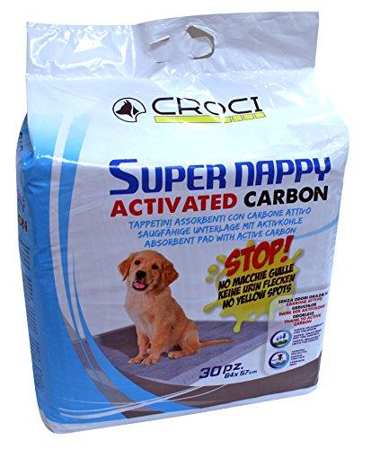 Croci C6028173 Super Assorbenti per Pannolini Assorbenti con Carbone Attivo per Cani
