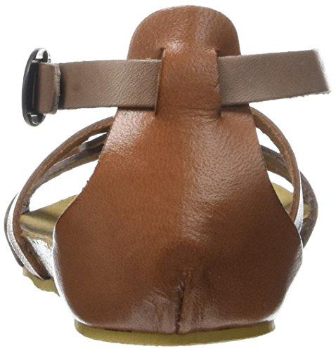 Kickers Bomtardes, Sandales Bout Ouvert Fille Marron (Marron Bronze)