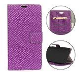 Sunrive Hülle Für Wiko Tommy 3, Magnetisch Schaltfläche Ledertasche Schutzhülle Case Handyhülle Schalen Handy Tasche Lederhülle(Tuch Modell lila)+Gratis Universal Eingabestift