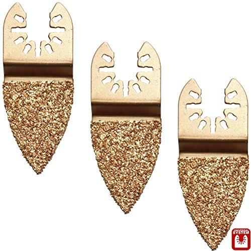 Hobbypower24© Zubehör 3er-Set Hartmetall HM Raspel Fingerform für Worx WX673 12 V / Sonicrafter / WX678 / WU905