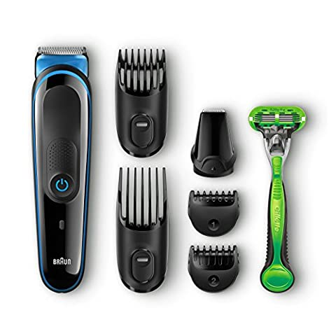 Braun Multigrooming-Set MGK3040, Bartschneider, Trimmer, Bodygroomer, mit Gillette Body,