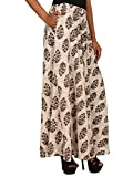 jingle impex cotton printed long skirt for women (free size)