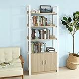 SoBuy® Scaffale a scala,Libreria,con due ante e tre ripiani,FRG200-N,IT immagine