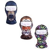 Wenyujh 3er Pack Unisex Multifunktionen Sturmhaube Sturmmaske Lustig Tier Radfahren Maske Hals Kopftuch (3pcs(1#+2#+3#))