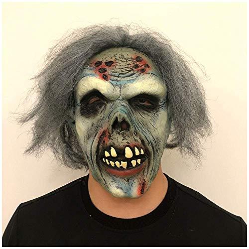 YaPin Horror Decay Blaue Zombie Latex Maske Halloween Dress Up Maske