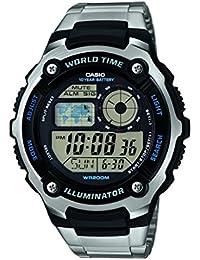 Casio Reloj analogico para Hombre de Cuarzo con Correa en Acero Inoxidable  AE-2100WD- 79f6a8d25b7f