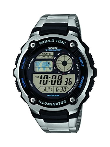 Casio Herren-Armbanduhr Collection Digital Quarz Edelstahl AE-2100WD-1AVEF