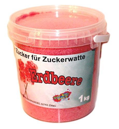 1 Kg Aromazucker Zucker für Zuckerwattemaschinen Erdbeere