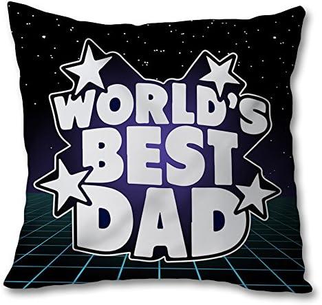 Cuscino Regalo Quadrato Idea Regalo Cuscino Per il Papa' World's Best Dad 100x100 cm Grafica A 4e255c