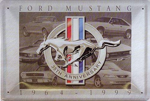 ford-mustang-1964-1999-plaque-metal-courbe-nouveau-20x30cm-vs1991
