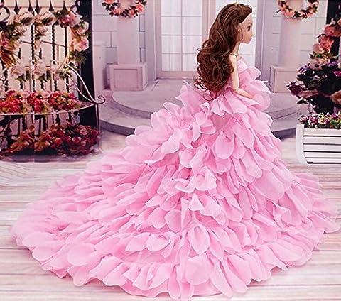 Youvinson Handmade Brautkleider mit neuem Design für Barbie-Puppen (Rosa)