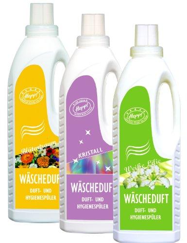 Hepp GmbH & Co KG - Hygiene- und Duftspüler - Set: Weiße Lilie - Kristall - Blütentraum 3000 ml (3 x 1000 ml Flasche)