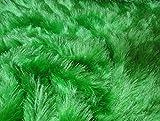Fabrics-City GRÜN KUNSTFELL KUNSTRASEN STOFF 1,5CM FLORHÖHE STOFFE METERWARE, 2811